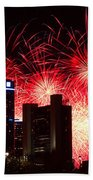 The 54th Annual Target Fireworks In Detroit Michigan - Version 2 Beach Towel by Gordon Dean II