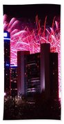 The 54th Annual Target Fireworks In Detroit Michigan Beach Towel