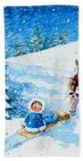 The Aerial Skier - 1 Beach Towel