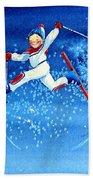 The Aerial Skier 16 Beach Towel