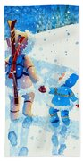 The Aerial Skier - 2 Beach Towel