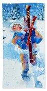 The Aerial Skier - 3 Beach Towel