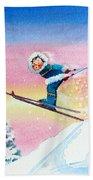 The Aerial Skier - 7 Beach Towel