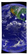 The Americas And Hurricane Andrew Beach Towel by Stocktrek Images