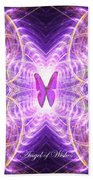 The Angel Of Wishes Beach Towel