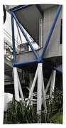 The Area Below The Capsules Of The Singapore Flyer Beach Towel