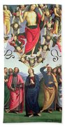 The Ascension Of Christ Beach Towel by Pietro Perugino