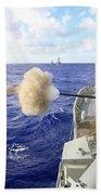 The Australian Navy Frigate Hmas Beach Sheet