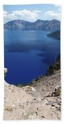 The Back Side Of Crater Lake  Beach Towel