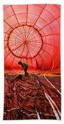 The Balloonist - Inside A Hot Air Balloon Beach Towel