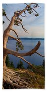The Banks Of Crater Lake Beach Towel