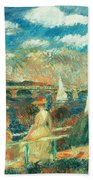 The Banks Of The Seine At Argenteuil Beach Towel