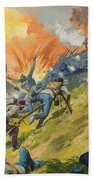 The Battle Of Gettysburg Beach Towel by Severino Baraldi