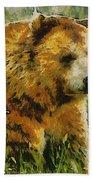 The Bear Painterly Beach Towel