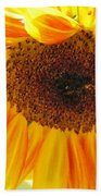 The Beauty Of A Sunflower Beach Towel