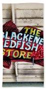 The Blackened Redfish Store Beach Towel
