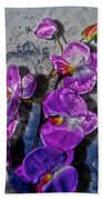The Blue Orchid  Beach Towel