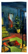 The Blue Room Beach Towel by Mona Edulesco