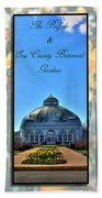 The Buffalo And Erie County Botanical Gardens Triptych Series With Text Beach Towel