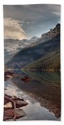 The Calm At Lake Louise Beach Towel