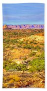 The Canyon In The Distance Beach Towel