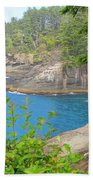 The Caves Of Cape Flattery  Beach Towel