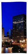 The Chicago River Beach Towel
