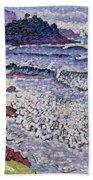 The Choppy Sea Beach Towel by Henri-Edmond Cross