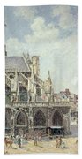 The Church Of Saint Jacques In Dieppe Beach Towel by Camille Pissarro