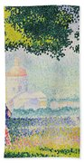 The Church Of Santa Maria Degli Angeli Beach Towel by Henri-Edmond Cross