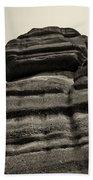 The Cliff Bw Beach Towel