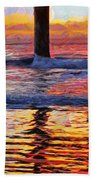 The Colours Of Dawn  Beach Towel