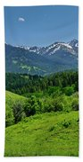 The Crazy Mountains Beach Towel