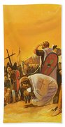 The Crusades Beach Towel by Gerry Embleton