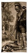 The Death Of Pontiac, 1769 Beach Towel by Photo Researchers