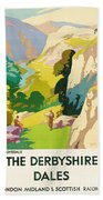 The Derbyshire Dales Beach Towel by Frank Sherwin