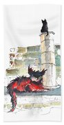 The Devils Advocat Beach Towel