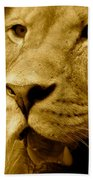 The Face Of God In Sepia Tones Beach Towel