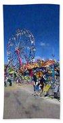 The Ferris Wheel At The Fair Beach Towel