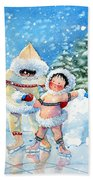 The Figure Skater 3 Beach Towel
