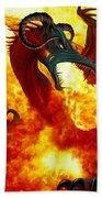 The Fire Dragon Beach Towel