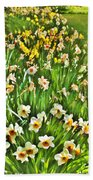 The Flower Bed Beach Towel