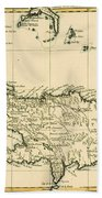 The French And Spanish Colony Of The Island Of St Dominic Of The Greater Antilles Beach Towel by Guillaume Raynal