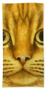 The French Orange Cat Beach Towel