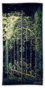 The Gate In The Grotto Of The Redemption Iowa Beach Towel