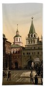 The Gate Of Notre Dame D Iberia Moscow Beach Towel