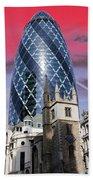 The Gherkin London Beach Towel by Jasna Buncic