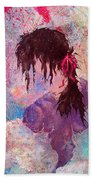 The Girl Of Many Colors Beach Towel