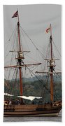 The God Speed Tall Ship Beach Towel