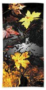 The Golden Leaves Beach Towel
